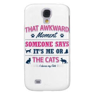 Galaxy S4 Cases Camiseta do amante do gato