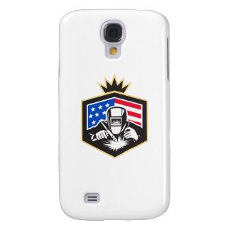 Galaxy S4 Cases Crista da bandeira dos EUA da soldadura de arco do