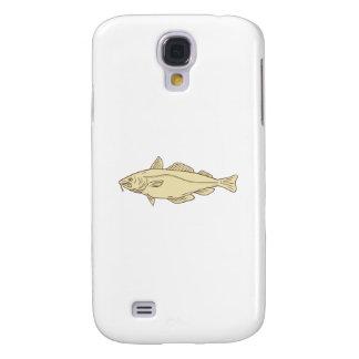 Galaxy S4 Cases Desenho dos peixes de bacalhau atlântico