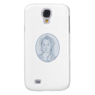 Galaxy S4 Cases Desenho oval do busto do século XVIII da