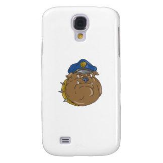 Galaxy S4 Cases Desenhos animados da cabeça do polícia do buldogue