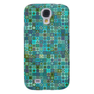 Galaxy S4 Cases Design floral do teste padrão do abstrato da