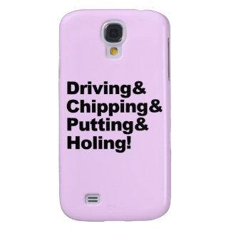 Galaxy S4 Cases Driving&Chipping&Putting&Holing (preto)