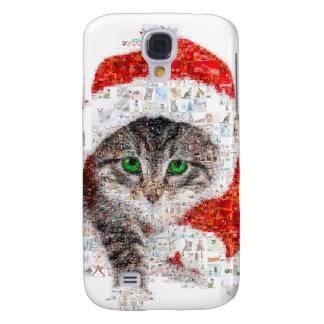 Galaxy S4 Cases gato de Papai Noel - colagem do gato - gatinho -