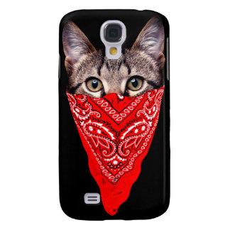 Galaxy S4 Cases gato do gângster - gato do bandana - grupo do gato