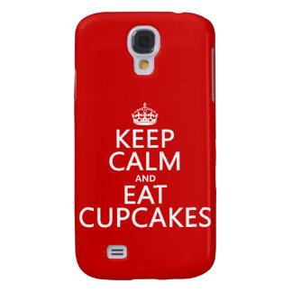 Galaxy S4 Cases Mantenha calmo e coma cupcakes