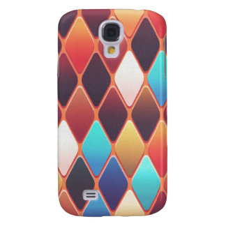 Galaxy S4 Cases Mosaico alaranjado do diamante