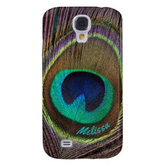 Galaxy S4 Cases Olho bonito da pena do pavão, seu nome