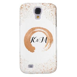 Galaxy S4 Cases presentes de cobre da coleção do casamento do