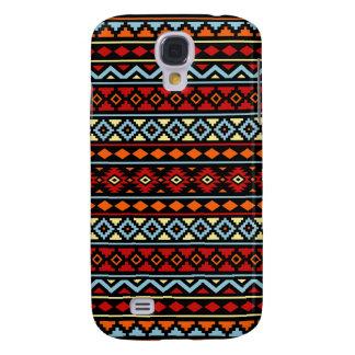 Galaxy S4 Cases Preto azul vermelho asteca do amarelo alaranjado