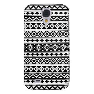 Galaxy S4 Cases Preto & branco astecas de IIb do teste padrão da