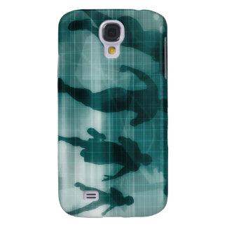 Galaxy S4 Cases Silhueta Illustrati do software do perseguidor do