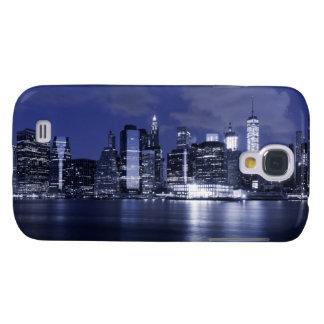 Galaxy S4 Cases Skyline de New York banhada no azul