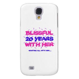 Galaxy S4 Cases Tendendo o 20o design do aniversário do casamento