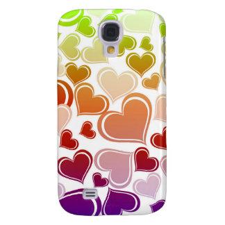 Galaxy S4 Cases Teste padrão brilhante Funky dos corações