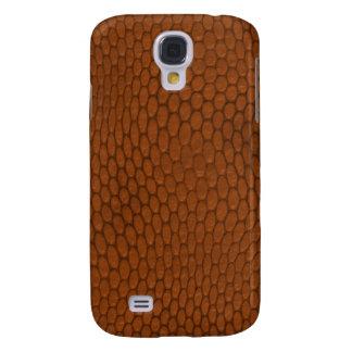 Galaxy S4 Cases Teste padrão da pele de cobra de Brown