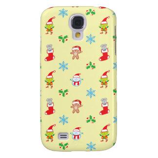Galaxy S4 Cases Teste padrão do Natal do rato, do boneco de neve,