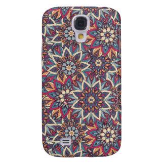 Galaxy S4 Cases Teste padrão floral étnico abstrato colorido da
