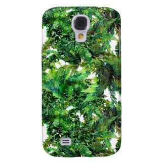 Galaxy S4 Cases Teste padrão verde da queda da floresta da