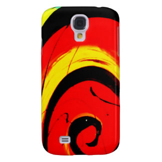 Galaxy S4 Cover Arte abstracta vermelha do redemoinho