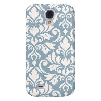 Galaxy S4 Cover Arte que do damasco do Flourish eu desnato no azul