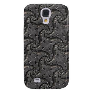 Galaxy S4 Cover Caso floral metálico de prata do teste padrão