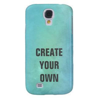 Galaxy S4 Cover Criar sua própria pintura da aguarela de turquesa