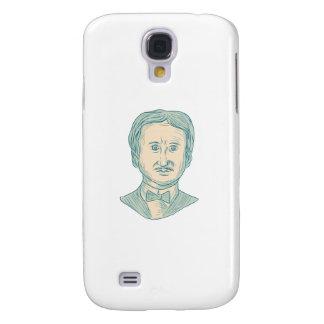 Galaxy S4 Cover Desenho do escritor de Edgar Allan Poe