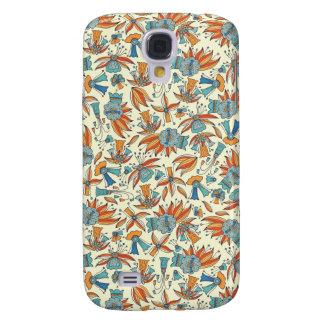 Galaxy S4 Cover Design floral abstrato do teste padrão