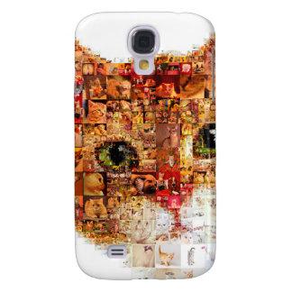 Galaxy S4 Cover Gato - colagem do gato