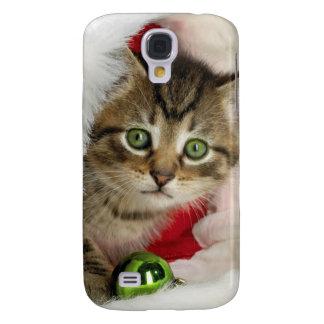 Galaxy S4 Cover Gato do Natal - gato do gatinho - gatos bonitos
