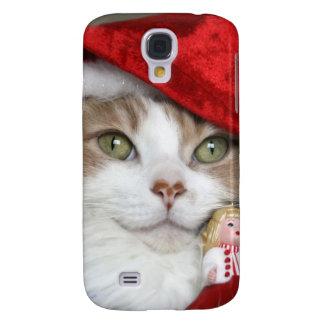 Galaxy S4 Cover Gato do papai noel - gato do Natal - gatinhos