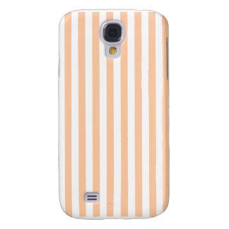 Galaxy S4 Cover Listras finas - brancas e pêssego profundo