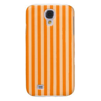 Galaxy S4 Cover Listras finas - luz - alaranjadas e obscuridade -