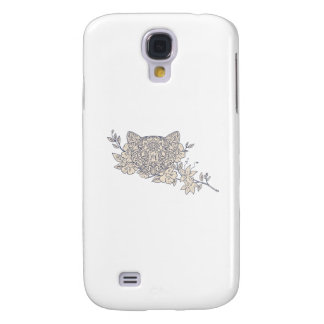 Galaxy S4 Cover Mandala principal da flor do jasmim do gato