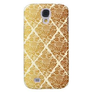 Galaxy S4 Cover O vintage, ouro, damasco, floral, teste padrão,