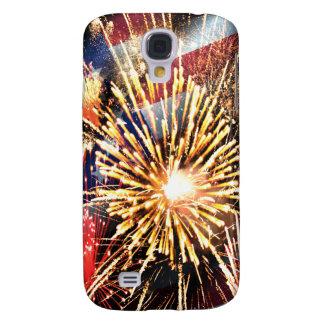 Galaxy S4 Cover Os EUA embandeiram e fogos-de-artifício
