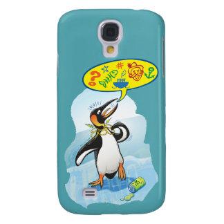 Galaxy S4 Cover Pinguim de rei desesperado que diz palavras más