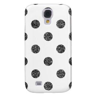 Galaxy S4 Cover Teste padrão de bolinhas elegante do brilho do