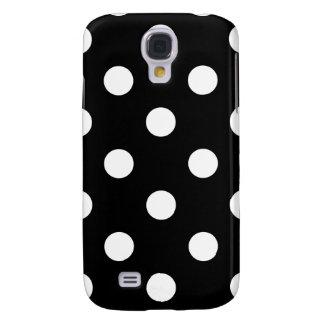 Galaxy S4 Cover Teste padrão de bolinhas preto e branco