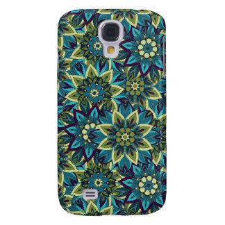Galaxy S4 Cover Teste padrão floral étnico abstrato colorido da
