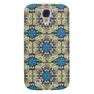 Galaxy S4 Cover Teste padrão floral étnico abstrato colorido de da