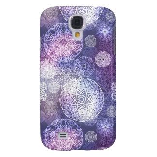 Galaxy S4 Cover Teste padrão luxuoso floral da mandala