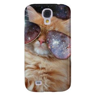Galaxy S4 Cover Vidros do gato - gato dos óculos de sol - espaço