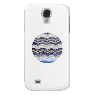 Galaxy S4 Covers Caixa azul redonda da galáxia S4 de Samsung do