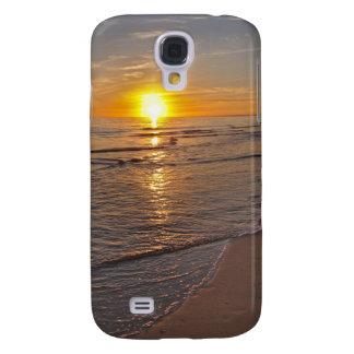 Galaxy S4 Covers Caso: Por do sol pela praia