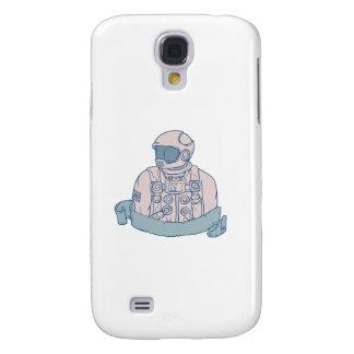 Galaxy S4 Covers Desenho da fita do busto do astronauta