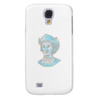 Galaxy S4 Covers Desenho do busto do explorador de Christopher