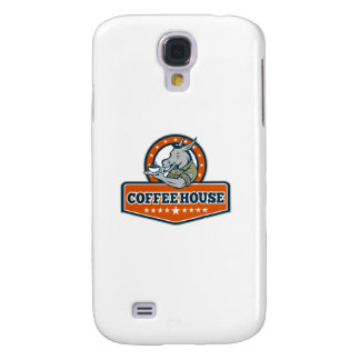 Galaxy S4 Covers Desenhos animados da casa do café do sargento de