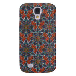 Galaxy S4 Covers Design floral do teste padrão do abstrato da